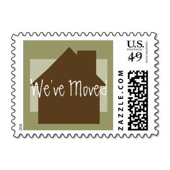 Weve Moved Postage Stamps
