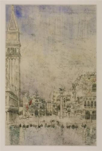 The Piazzetta and the Old Campanile, Venice - Walter Sickert
