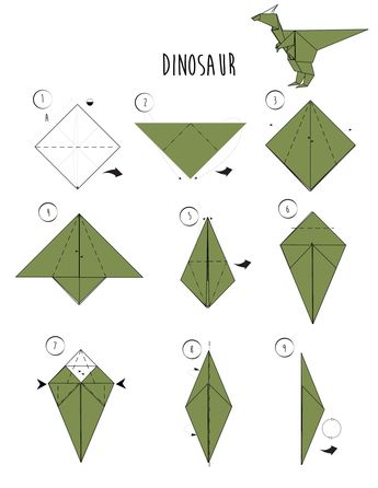 wikiHow — Rawr - Origami Dinosaur! And 2 More Ways to Make...