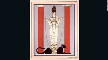 This watercolor by famed French fashion illustrator George Barbier was run as a Cartier magazine ad throughout the 1920s &30s