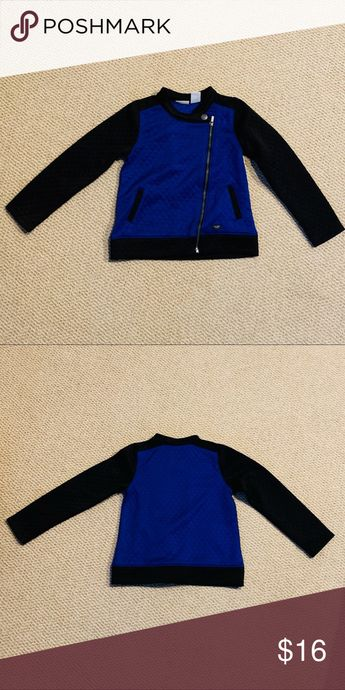 Calvin Klein Jeans Jacket Size 5 This blue and black quilted jacket is from Calvin Klein Jeans. It is in great condition! It is in a size 5. Calvin Klein Jeans Jackets & Coats