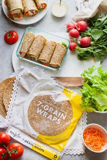 Healthy Chicken Caesar Wraps