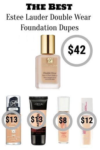The Best Drugstore Dupes: Estee Lauder Double Wear Foundation #hair #love  #style  #beautiful  #Makeup #SkinCare #Nails #beauty #eyemakeup #style #eyes #model #MakeupMafia #NaturalBeauty #OrganicBeauty
