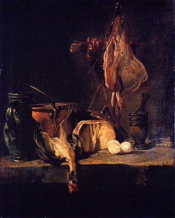 Still LIfe with Ray and Basket of Onions - Jean-Baptiste-Simeon Chardin
