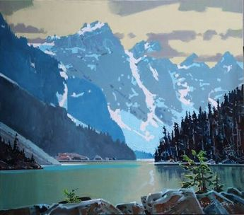 "Landscape Paintings and photographs : Robert Genn "" Moraine Lake""...."