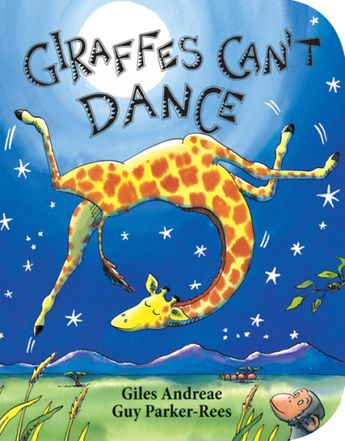 Giraffes Can't Dance Book! Gerald the giraffe is too clumsy to dance with all the other animals at the Jungle Dance, until he finds the right music. On board pages.
