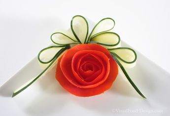 Tomato rose and cucumber bow