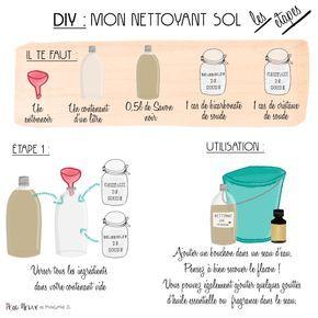 NETTOYANT NATUREL POUR LE SOL