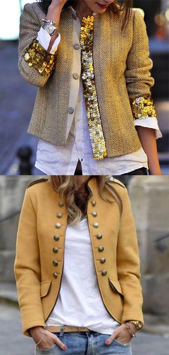 Women Winter Short Jackets #ShortJackets #ShortCoats #WinterOutfits