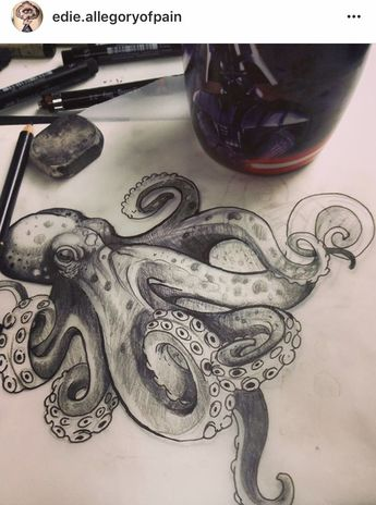 Octopus style I like. Giant tattoo for my hip?,  #eviloctopustattoo #giant #hip #Octopus #sty...