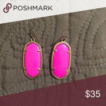 6ff7c3ad41cc Kendra Scott Elle earrings in Magenta Magnesite Elle earrings color Magenta  Magnesite! VGUC only worn