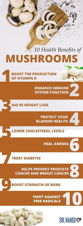 10 Health Benefits of Mushrooms