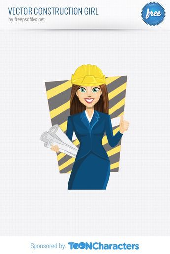 #construction #girl #engineering #builder #cartoon #character #female #woman #vector