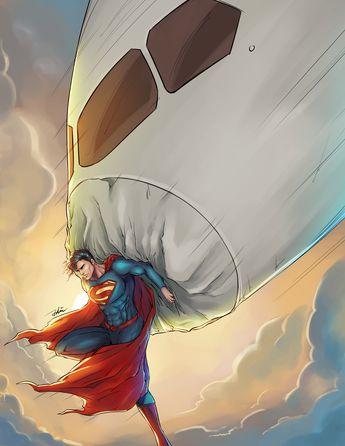 ArtStation - Superman Man of steel, Tingzuo Liu