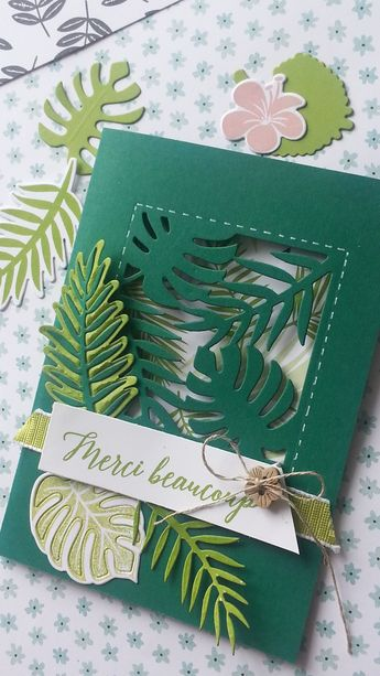 Carte Tropicale chic ! Stampin'Up!