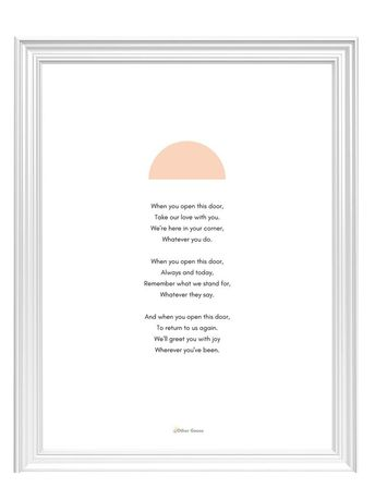 The Front Door Blessing (Digital Print)