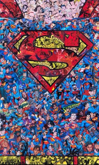 Superman collage wallpaper