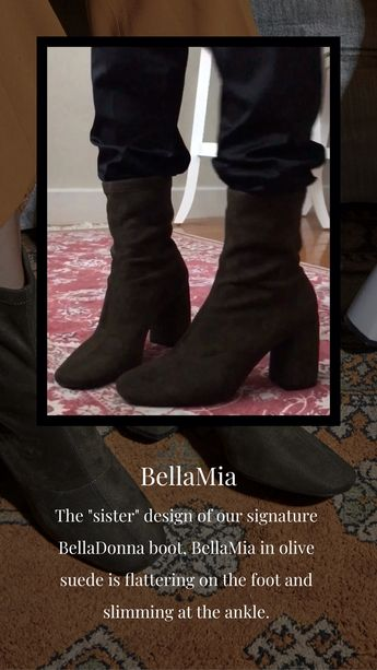 ad95a81ef3 Check out how BellaMia moves! This olive suede pair in block heels are  designed for