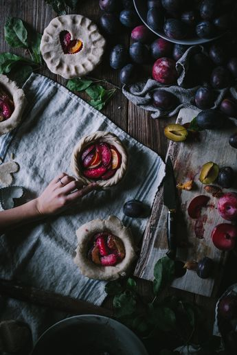 Mini Pluot Pies