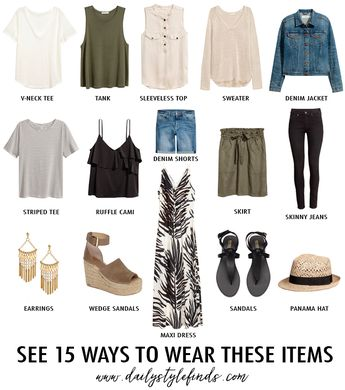 Build a Mixable Summer Wardrobe with 15 Pieces