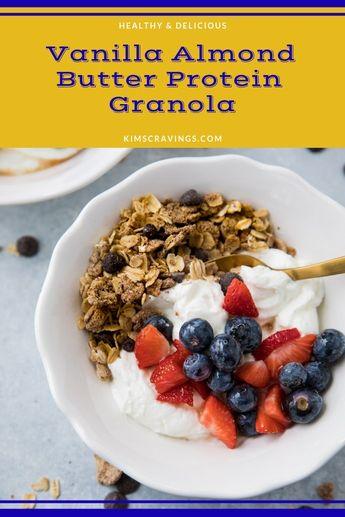 Vanilla Almond Butter Protein Granola
