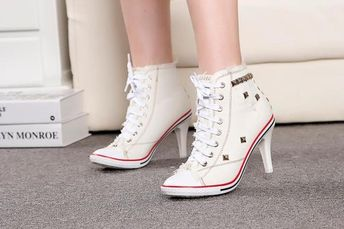 c1258496ffe20f ALL STAR CONVERSE Sneakers HIGH HEEL Stiletto Bootie Low Cu