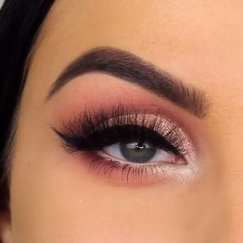 Eye makeup, Eye makeup tutorial, Pink makeup, Makeup, Makeup videos, Makeup tutorial - Lovely Eye Makeup For Girls -  #Eyemakeup