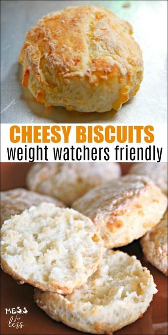 Cheesy Biscuits with Two Ingredient Dough - Weight Watchers Friendly