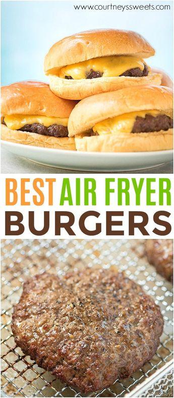 Air Fryer Burgers