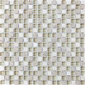 """Cappucinno • Bliss Collection by Anatolia Tile & Stone • 5/8"""" x 5/8"""" • Glass Stone Blend Mosaics"""