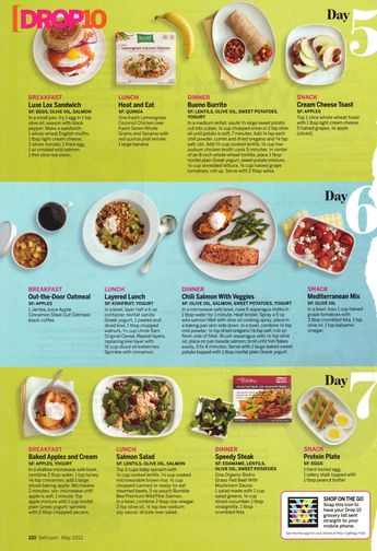 Recipes from Self Magazine's Drop 10