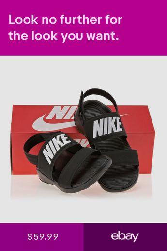 80c3072578a 1706 Nike Tanjun Womens Sandal 882694 Black Flip Flop Slides Free Track