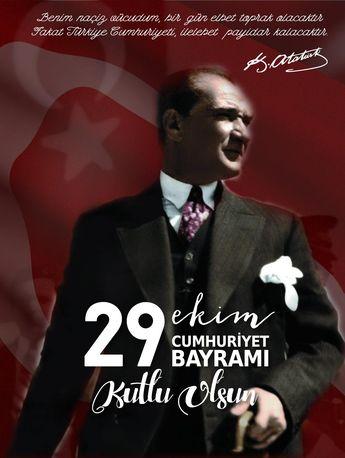 Ulu Önder Mustafa Kemal Atatürk'ün Önderliğinde Kurulan Türkiye Cumhuriyeti'nin Kuruluşunun 94. Yıl Dönümü, 29 Ekim Cumhuriyet Bayramı Kutlu Olsun #cumhuriyetbayramı #Atatürk #29Ekim