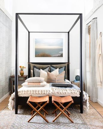 The Penny Canopy Bed at our Calabasas Shoppe ✨ Come say hi! #MadeForLiving #MadeByShoppe