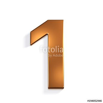 """Bronze Number 1. 3D Render Illustration"" Stock photo and royalty-free images on Fotolia.com - Pic 194052946"