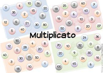 Jeu fabriqué - Multiplicato, jeu sur les tables de multiplication de 1 à 5