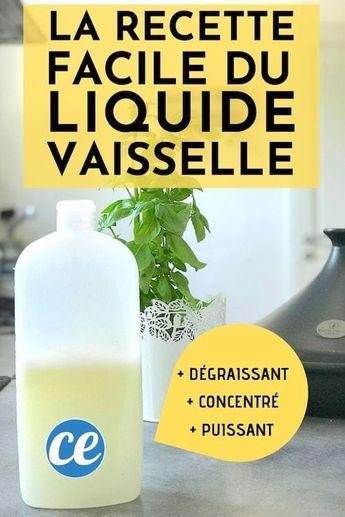 La Recette Facile du Liquide Vaisselle Ultra Dégraissant.