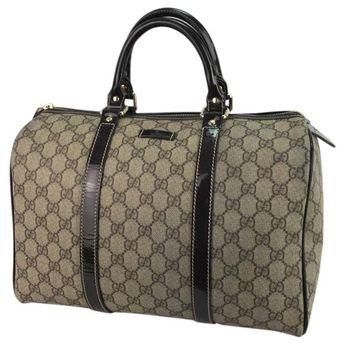 b3918980959535 Gucci Joy Boston Handle GG Monogram Medium Brown
