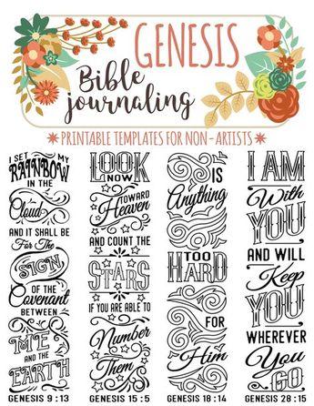 Printable Coloring Bible Journaling Margin By DigiScrapDel
