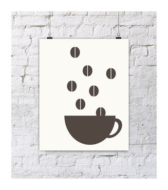 Coffee beans graphic illustration by Ivana K.