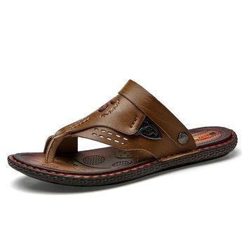 Men's Summer Casual PU Slippers