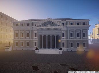 Minecrafteate: Réplica Minecraft del Palacio de las Cortes (Congreso de los Diputados) de España.