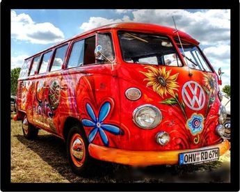Awesome VW Wagon Diamond Painting