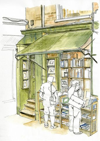 Minster Gates Book Shop colour
