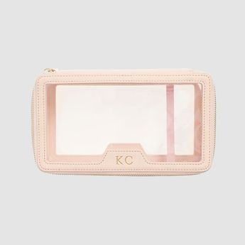 Pale Pink Clear Travel Case