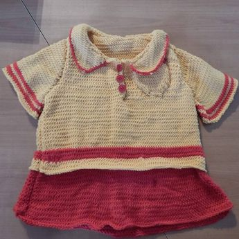 Petite robe tricot #passion #passetemps #kawai #cocooning #bb #baby #bébé #bebe #enfant #fille #girls #robe #fashion #dress #dresscode #pretty #automne #autum #tricot #love #swiss #suisse #switzerland #france #star #fun