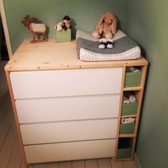 Sultan Lade + Malm + Benno = changing table
