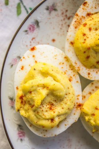 Classic Deviled Eggs from The Food Charlatan - saving this just because I like the idea of steaming the eggs instead of boiling them