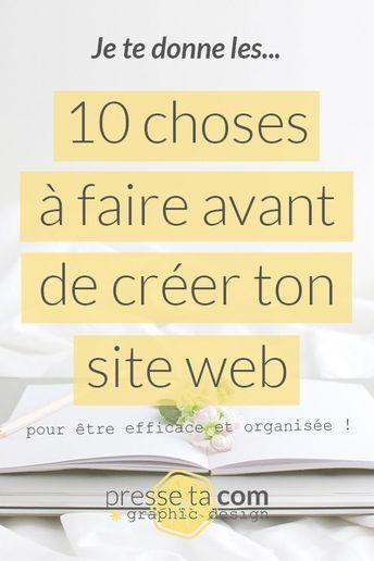 Website creation: 10 steps before you start   Press your Com
