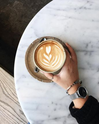 """Tiffany Wang on Instagram: """"Beautiful latte art to complement my new @agildedleaf triangle geometric ring & @nicolevienna marble-faced watch (use my promo code…"""""""